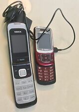 Lot Of 2 Cell Phones T Mobile Flip Nokia For Parts Slider Samsung Working