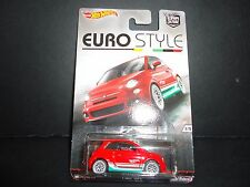 Hot Wheels Fiat 500 Red Euro Style 1/64