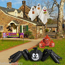Complete Halloween Pumpkin Spider Banner Garden Lawn Party Decorating Kit Pack