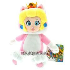 "Super Mario Bros New 9"" Cat PEACH PRINCESS 3D World Neko Plush Doll Toy/MX2872"