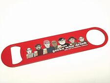 VERY unique Geeks who Drink Red powder coated beer bottle opener