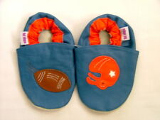 Brand New Soft Leather Baby Shoes  0-6 Months American Football Motif Girls/Boys