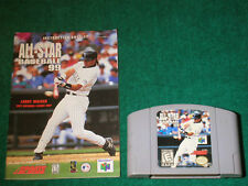 NINTENDO N64 ALL-STAR BASEBALL 99 VIDEO GAME WITH MANUAL INCLUDED