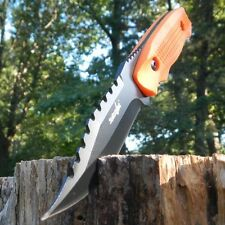 "8"" Survivor Tactical Fixed Stainless Steel Combat Blade Survival Knife - Orange"