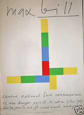 MAX BILL - AFFICHE ORIGINALE SIGNEE/PLANCHE - INTROUVABLE DE 1969 SERIGRAPHIE