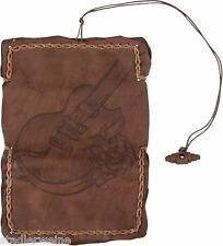 MR Borsa portatabacco Gitarre/Bustina tabacco/16,5 cm/Pelle marrone