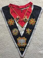 Rose Croix 32 Degree Collar ' Collar Jewel' Collarette And Collarette Jewel