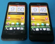 Lot of 2 HTC One V 4GB Black Virgin Mobile Android Smartphone Fair Condition