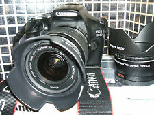 Canon EOS 1100D 12.2 MP Digital SLR Camera +THREE LENSES  EF-S IS 18-55mm...