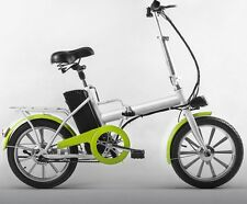 Q Folding Falcon 250w Foldable Electric Bicycle-White eBike