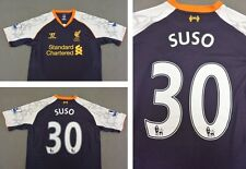 WARRIOR LIVERPOOL FC 2012-13 THIRD EURO KIT AWAY SHIRT SUSSO 30 SIZE M (adults)