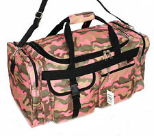 "22"" Pink Camo Ladies Duffle Duty Bag Gun Hunting Carry On Luggage Light Range"