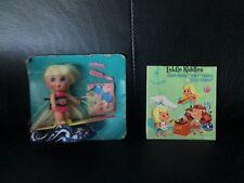 Vintage Liddle Kiddle Complete Surfy Skiddle Doll Surfboard Wave Little On Card