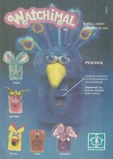 X2064 WATCHIMAL Peacock - Hasbro - Pubblicità 1986 - Advertising