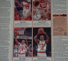 Smith/Thorpe/Maxwell/Elie Signed Auto Newspaper Houston Rockets PSA/DNA