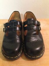 Dr. Martens Shoes Women's Size 6 Black Leather Mary Jane T Strap England