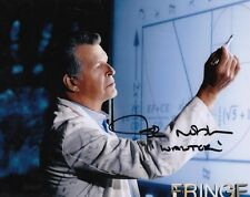 FRINGE WALTER BISHOP JOHN NOBLE SIGNED 10x8 INCH LAB PRINTED PHOTO