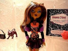 Monster High Clawdeen Wolf First Wave,100% complete great condition!