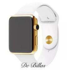 42MM Apple Watch SERIES 2 24K Gold Plated W/White Sport Band NEWEST MODEL