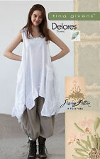 TINA GIVENS DELORES TUNIC Sewing Pattern TG-A7044 Lagenlook Style- Layering!