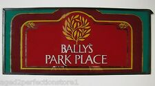 Vintage 1980 BALLY'S PARK PLACE Slot Machine Glass Atlantic City Gambling Adv