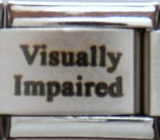 Visually Impaired Laser Medical Alert for Italian Charm Bracelets Free ID Card