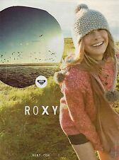 Publicité Advertising 2011 ROXY collection pret à porter mode vetement