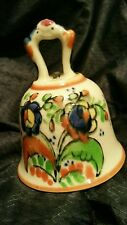 VINTAGE HAND PAINTED CERAMIC BELL, MADE IN JAPAN, VERY OLD!!