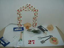 "1/12"" DOLL HOUSE FURNITURE GARDENING / ALLOTMENT SELECTION WITH DOG"