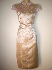 NEW VINTAGE 50'S STYLE ORIENTAL STYLE FLORAL WIGGLE EVENING PARTY DRESS SIZE 10