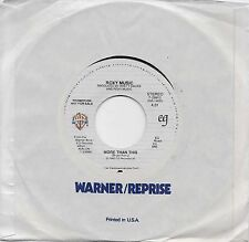 ROXY MUSIC  More Than This  rare promo 45 from 1982