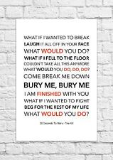30 Seconds To Mars - The Kill - Song Lyric Art Poster - A4 Size