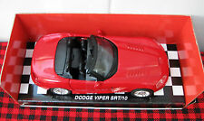 New Ray **DODGE VIPER SRT/10**  1:32 Scale..Convertible..MINT..NIB..Really RED