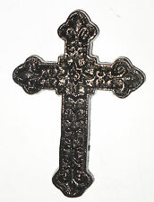 Small Rustic BLACK VICTORIAN Cast Iron Wall CROSS