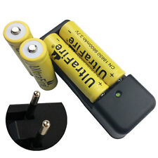 4X 18650 9800mAh 3.7V Li-ion Rechargeable Battery + 4.2V EU Charger