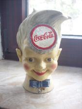 alte Coca Cola Spardose Jungenkopf