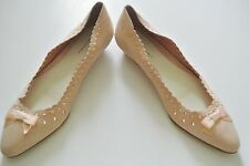 Pink Suede w/ Bow BANANA REPUBLIC Flat Shoes, Size 7