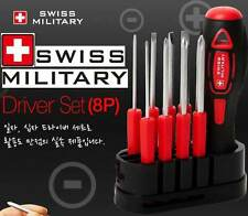 Genuine SWISS MILITARY Mini Screwdriver Mixed 8P Set Number Hi Technology Tool