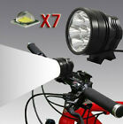 7x CREE XM-L T6 LED 10000LM Cycling Head Front Bicycle light Bike Lamp Headlight