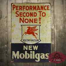 Mobilgas Cartel Metalico Gasolina Garage Retro Vintage colleccion