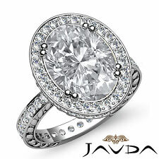 Shining Oval Diamond Fine Pre-Set Engagement Ring GIA G Color SI1 Platinum 2 ct