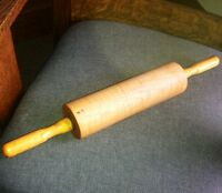 Curly Maple Rolling Pin Beautiful Vintage Kitchen Collectable