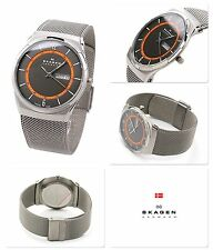 NEW Skagen SKW6007 Men's MELBYE Titanium Mesh Quartz Watch citizen movement
