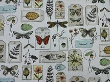 Clarke and Clarke Wildlife Multi Butterflies Curtain Craft Upholstery Fabric
