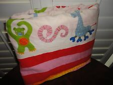 IKEA BARNSLIG RAND KIDS MONKEYS GIRAFFES LIONS ANIMALS RED TWIN DUVET