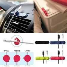 Car Office Desktop Home Cable Cord Clip Wire Organizer Management Magnetic Hold/