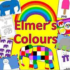 ELMER'S COLOURS resource on CD - EYFS, KS1, Childminder, SEN, Art, creative