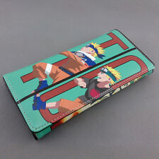 Colorful long style PU wallet printed with Anime NARUTO Uzumaki figures