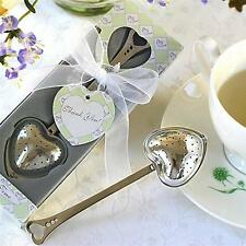 Hot Heart Shape Stainless Steel Tea Infuser Spoon Strainer Steeper Handle Shower