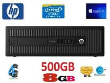 HP PRODESK 400 G1-4TH GEN i3 8GB 500 HD-3.40GHZ.4130.WIN 10 PRO,64 BIT-USB3,DVD+